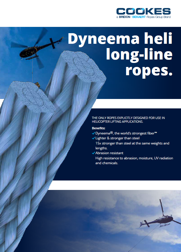 Dyneema  Helicopter Long-line brochure cover